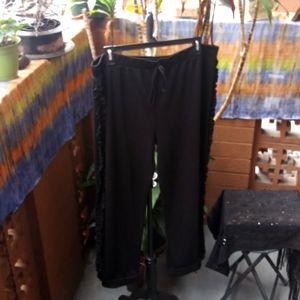 Black plus size pants